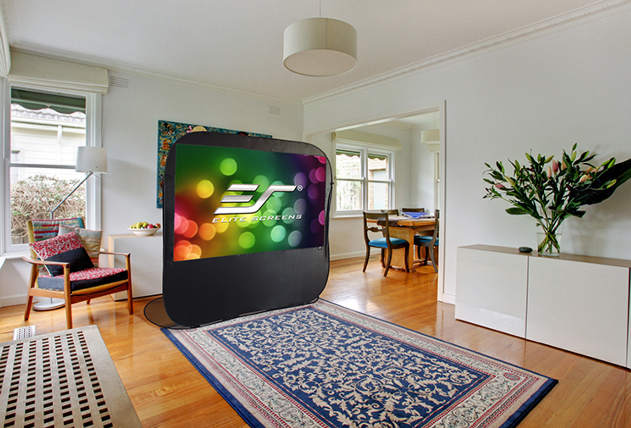 "Elite Screens Pop-Up Cinema 16:9 Portable Projection Screens (84"" / 92"")"