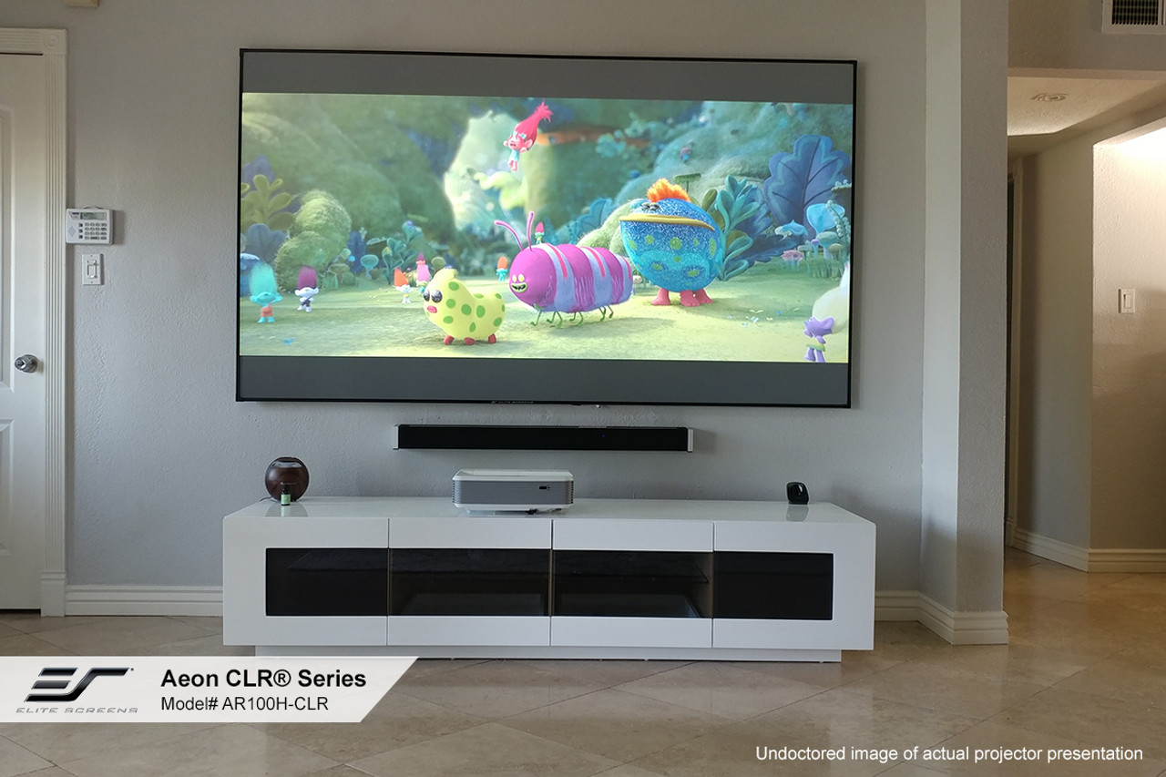 """Elite Screens Aeon CLR 4K Edge Free 16:9 Fixed Frame Projection Screen For UST Projectors (100"""", 120"""")"""