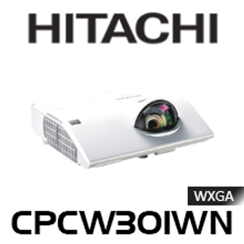 Hitachi CPCW301WN WXGA 3100 Lumen Short Throw 3LCD Projector