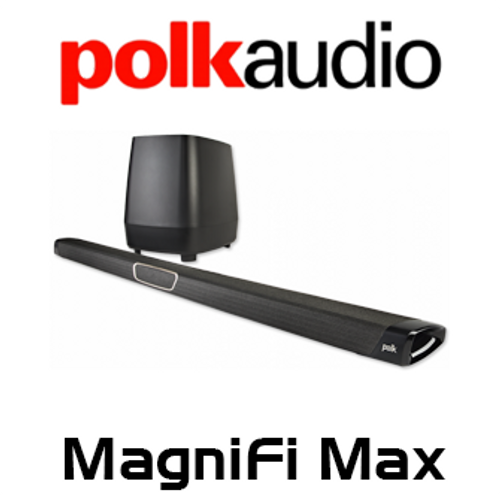 Polk Audio MagniFi Max Maximum Performance Soundbar & Wireless Subwoofer System