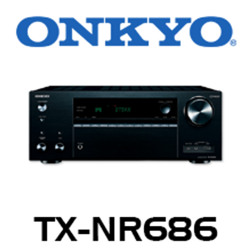 Onkyo TX-NR686 7.2-Channel THX, 4K, HDR, DTS:X & Dolby Atmos Network A/V Receiver
