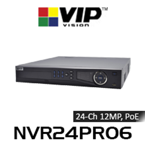 VIP Vision Professional 24 Channel 12MP Network Video Recorder with PoE (320Mbps)