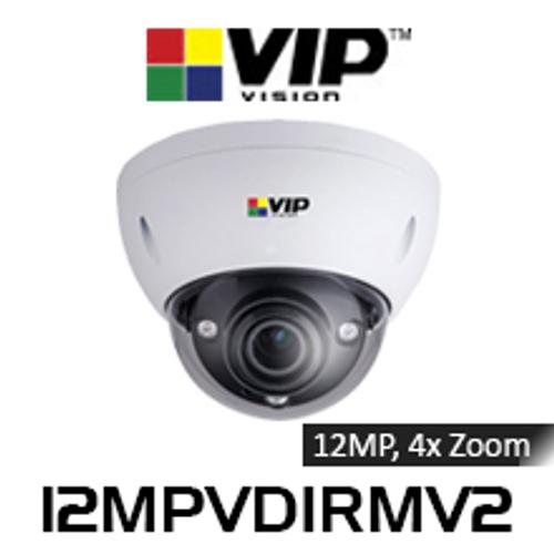 VIP Vision Ultimate 12.0MP IP66 IK10 4x Zoom PTZ Dome IP Camera