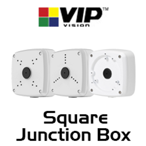 VIP Vision IP66 Square Adapter / Junction Box for Surveillance Cameras