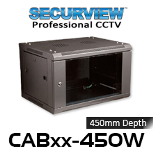 "SecurView 19"" 450mm Deep Wall Mount Cabinet (6, 12, 15, 18RU)"
