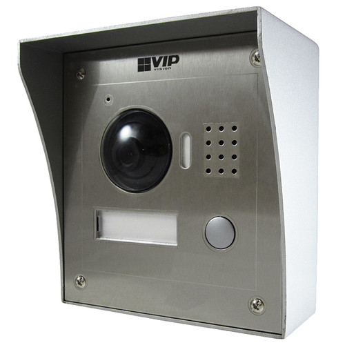 VIP Vision 2-Wire Vandal Resistant Flush / Surface Mount Front Door IP Video Intercom