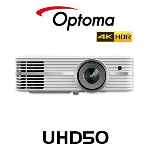 Optoma UHD50 4K UHD 2400 Lumen HDR DLP Projector
