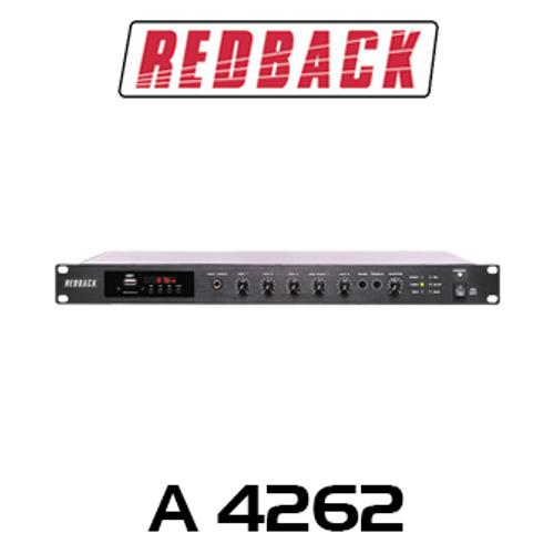Redback 240W 100V Class H Bluetooth Public Address Mixer Amplifier