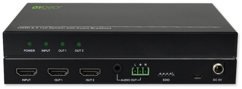 AVGear 2/4-Way 4K HDMI 2.0 Splitter With Audio Breakout