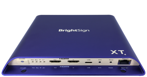 BrightSign XT1144 Expanded I/O 4K Dolby Vision Interactive Digital Signage Media Player