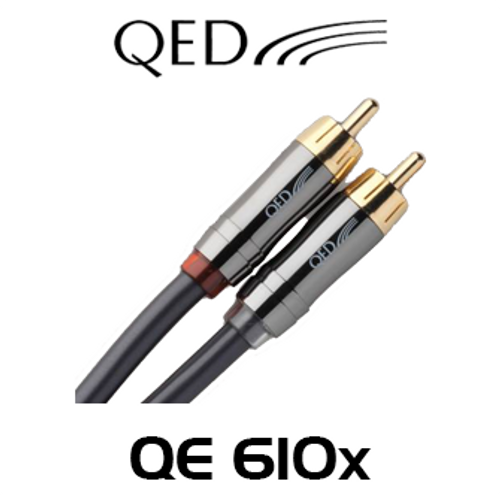 QED Performance QE6100 0.6m Graphite Stereo RCA Interconnect Cable
