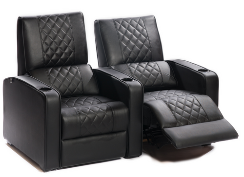 Manhattan Gotham Pro Leather / Suede Finish Cinema Seating