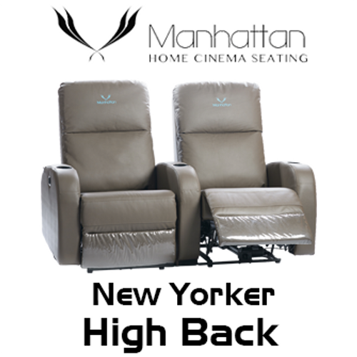 Manhattan New Yorker High Back Leather / Suede Finish Cinema Seating