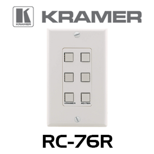 Kramer RC-76R 6-Button Room Controller Wallplate