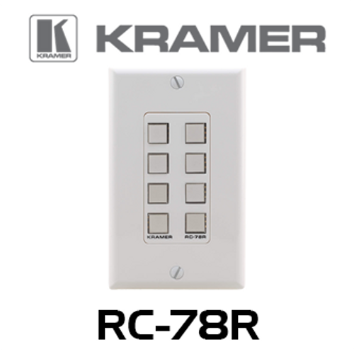 Kramer RC-78R 8-Button Room Controller Wallplate