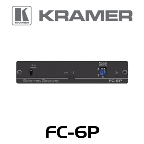 Kramer FC-6P 2-Port Multi-Function Serial / IR PoE Control Gateway