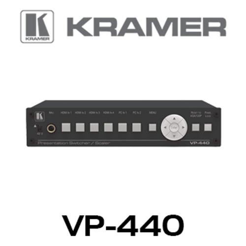 Kramer VP-440 6-Input Presentation Switcher with HDBaseT & HDMI Outputs