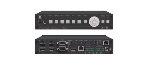 Kramer VP-440 6-Input Presentation Switcher with HDBaseT & HDMI Outputs