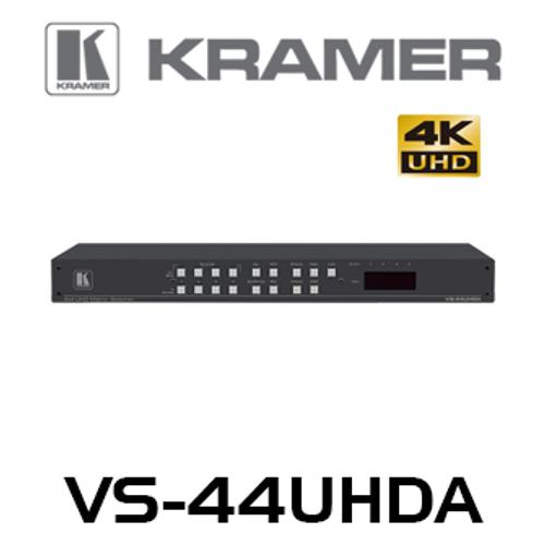 Kramer VS-44UHDA 4x4 4K60 HDMI Matrix Switcher with Audio Embedding/De–embedding