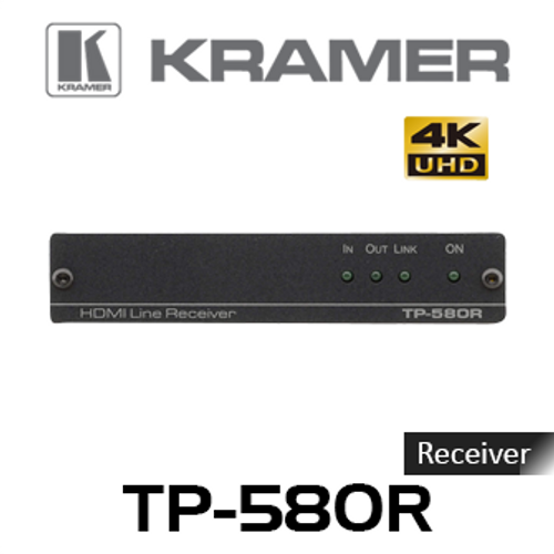 Kramer TP-580R 4K60Hz HDMI to HDBaseT Receiver With RS-232 & IR (up to 40m)