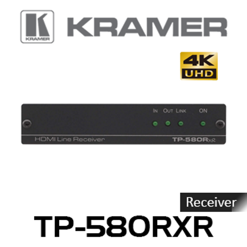 Kramer TP-580RXR 4K60Hz HDMI to HDBaseT Receiver With RS-232 & IR (up to 100m)
