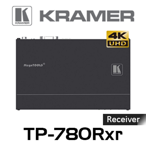 Kramer TP-780Rxr 4K60 HDMI to HDBaseT PoE Receiver w/ Ethernet, RS-232 & IR (up to 100m)