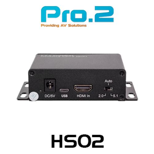Pro.2 HA02 4K60 HDMI Audio De-Embedder