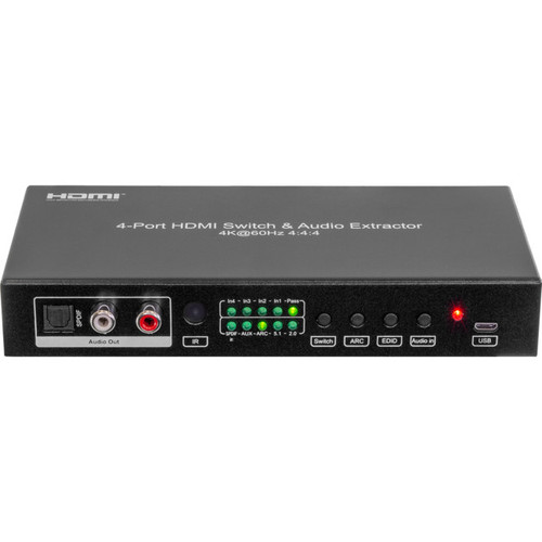 Pro.2 HDMI4S18G 4-Way 4K 18Gbps HDMI 2.0 Switcher & Audio Extractor