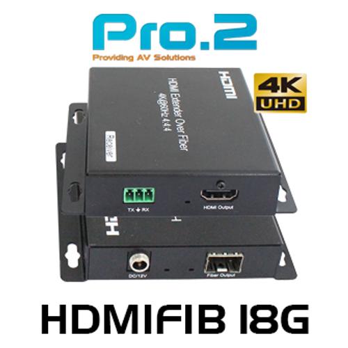 Pro.2 HDMIFIB18G 4K60 UHD 4:4:4 HDMI Over Fibre Extender (60km)