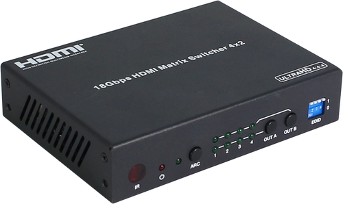 Pro.2 4x2 4K60 UHD 4:4:4 HDMI 2.0 Matrix Switcher