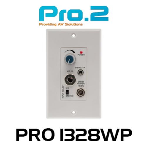 Pro.2 PRO1328WP Stereo Audio Power Amplifier Wallplate