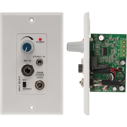 Pro.2 PRO1328WP Stereo Audio Power Amplifier Wallplate