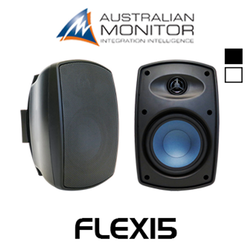 "Australian Monitor FLEX15 4"" IP65 Indoor/Outdoor Wall Mount Speakers (Pair)"