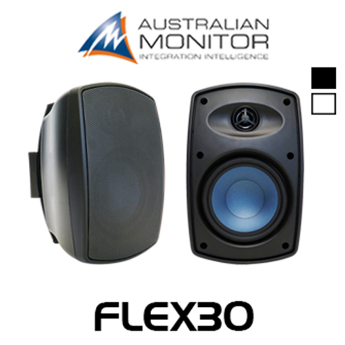 "Australian Monitor FLEX30 5.25"" IP65 Indoor/Outdoor Wall Mount Speakers (Pair)"