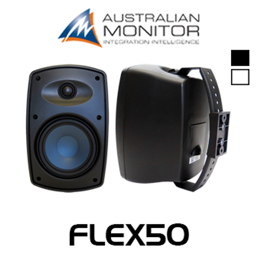 "Australian Monitor FLEX50 6.5"" IP65 Indoor/Outdoor Wall Mount Speakers (Pair)"