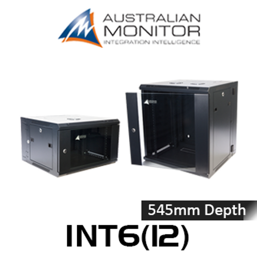 "Australian Monitor INTxx 19"" Wall Mount Rack (6, 12RU)"