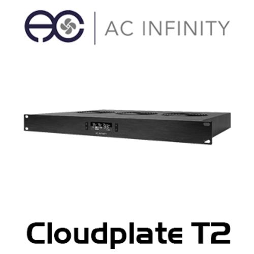 "AC Infinity Cloudplate T2 19"" 1RU Rack Top Exhaust Cooling Fan System"