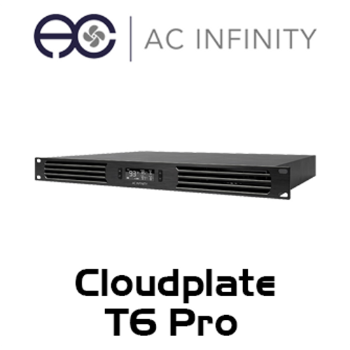 """AC Infinity Cloudplate T6 Pro 19"""" 1RU Rack Front Exhaust Cooling Fan System"""
