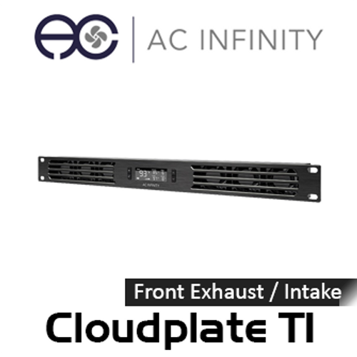 "AC Infinity Cloudplate T1 19"" 1RU Rack Front Exhaust / Intake Cooling Fan System"