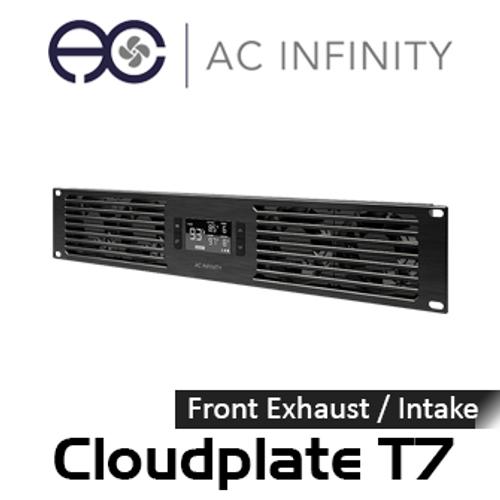 "AC Infinity Cloudplate T7 19"" 2RU Rack Front Exhaust / Intake Cooling Fan System"