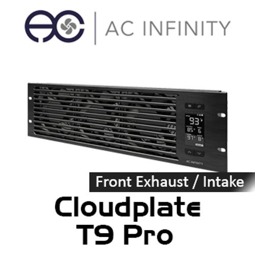 "AC Infinity Cloudplate T9 Pro 19"" 3RU Rack Front Exhaust / Intake Cooling Fan System"