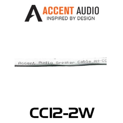 Accent Audio 12 Gauge 2 Core Copper Speaker Cable - 100m