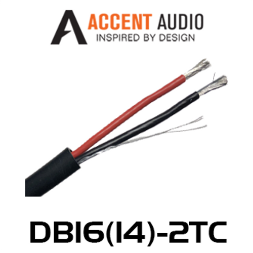 Accent Audio Direct Burial 14/16 Gauge 2 Core Tinned Copper Speaker Cable - 100m