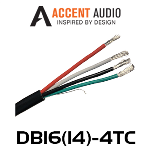 Accent Audio Direct Burial 14/16 Gauge 4 Core Tinned Copper Speaker Cable - 100m