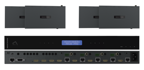 HDAnywhere MHUB Pro 4x4 4K HDR HDMI/HDBaseT Matrix Switcher (40m / 70m)