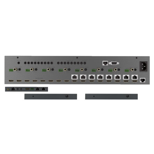 HDAnywhere MHUB Pro 8x8 70m 4K HDR HDMI/HDBaseT Matrix Switcher with 2 Scaling Receivers