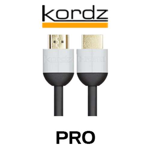 Kordz Pro UHD High Speed HDMI Cable With Ethernet (1 - 5m)