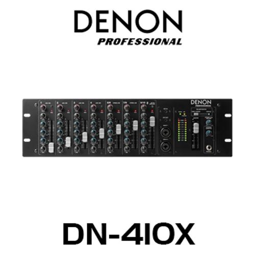 Denon Pro DN410X 10-Channel 3RU Rackmount Mixer with Bluetooth