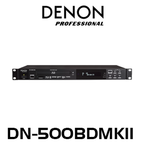 Denon Pro DN500BDMKII 1RU Rackmount SD / USB / Blu-Ray Player