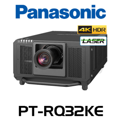 Panasonic PT-RQ32KE 4K+ 27,000 Lumen Digital Link 3-Chip DLP Laser Projector